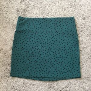 BCBGeneration Green Patterned Skirt sz Large BCBG